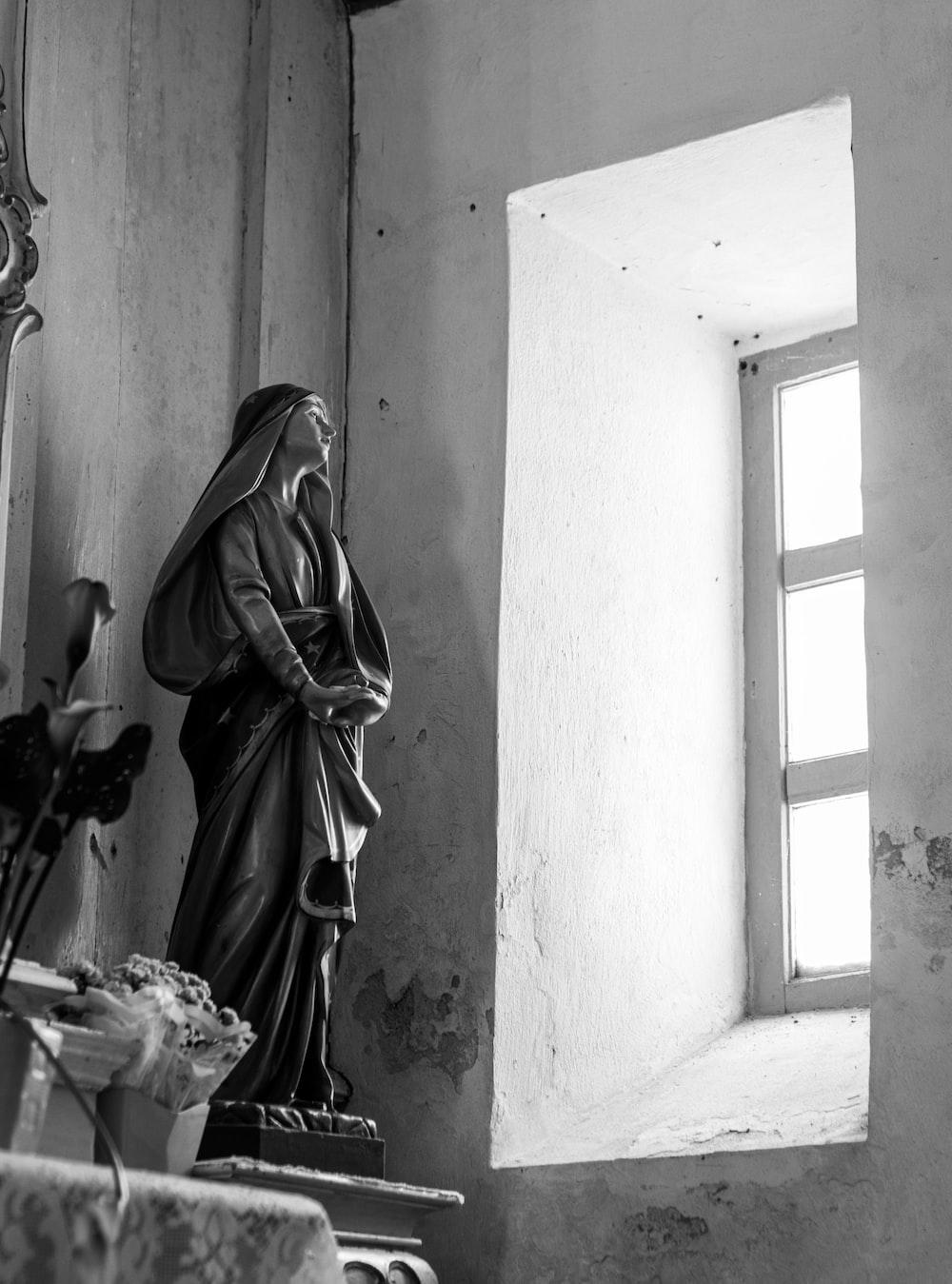 religious woman statue