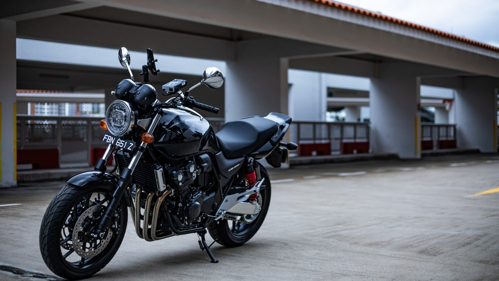 black and gray motorcycle