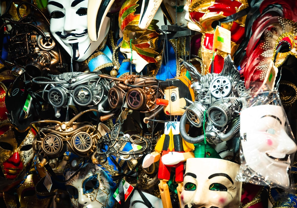 assorted-color mask collection