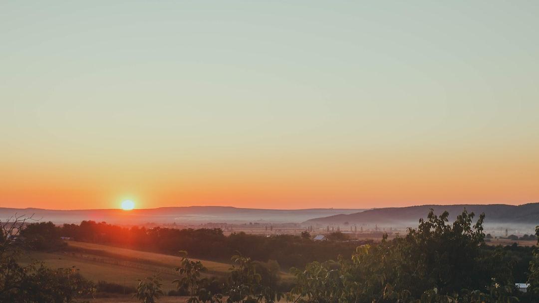 Sunset in Bucovina