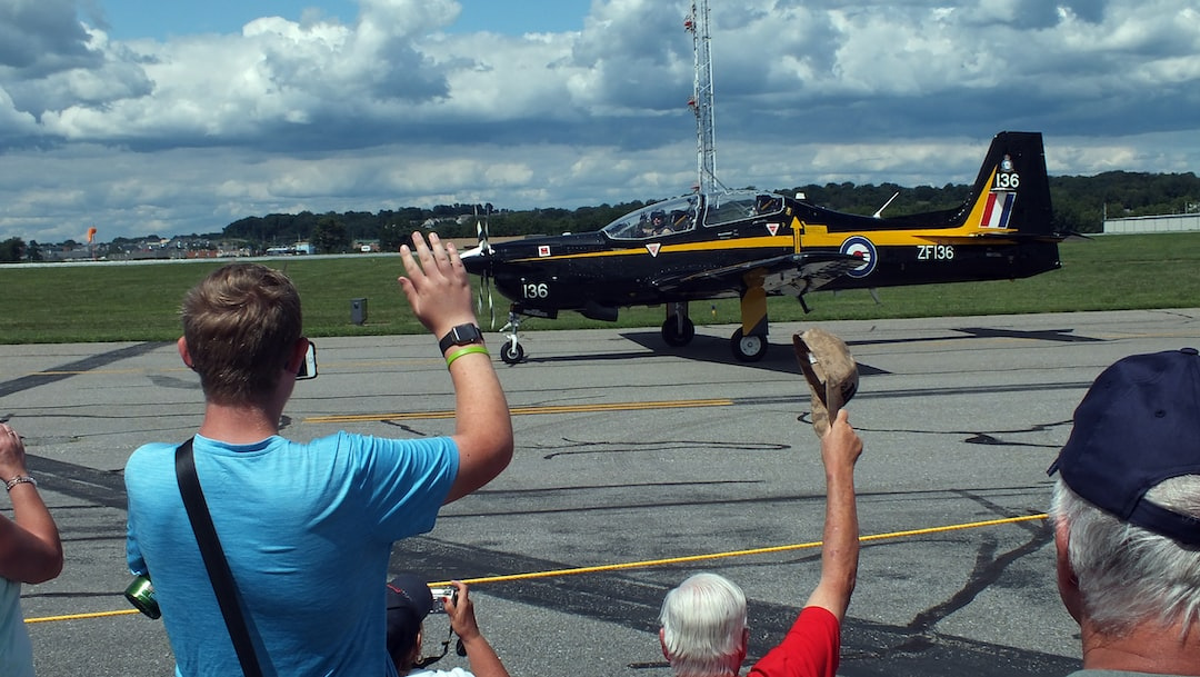 Crowd pleaser turboprop at the Lancaster Air Show