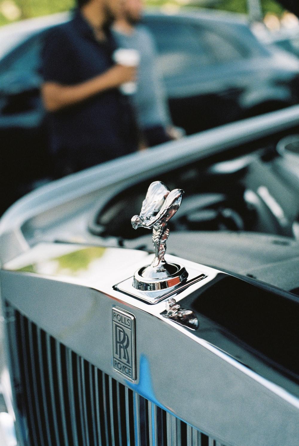 Rolls Royce emblem macro photography