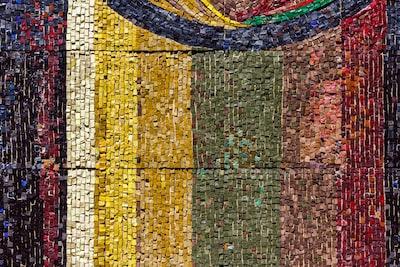 multicolored collage art