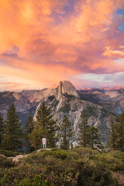The Big Trip | Sunset from Glacier Point in Yosemite National Park - Explore more at explorehuper.com/the-big-trip