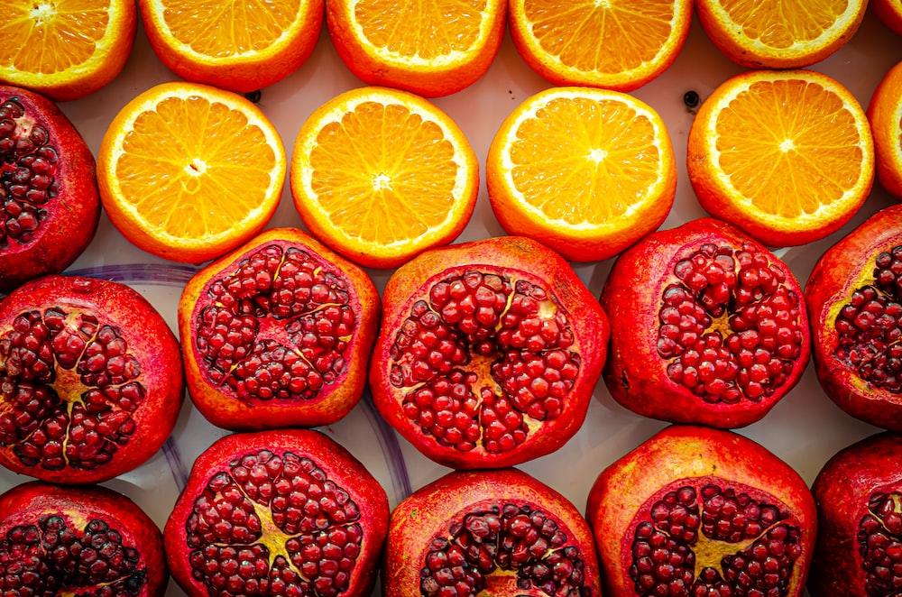 shallow focus photo of sliced orange fruits
