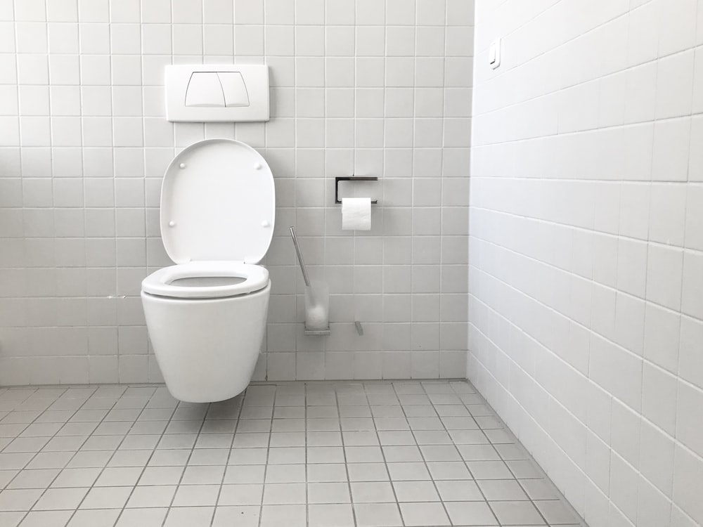 white toilet bowl with cistern