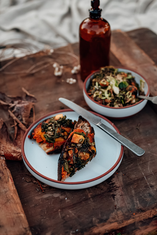 foods on plates
