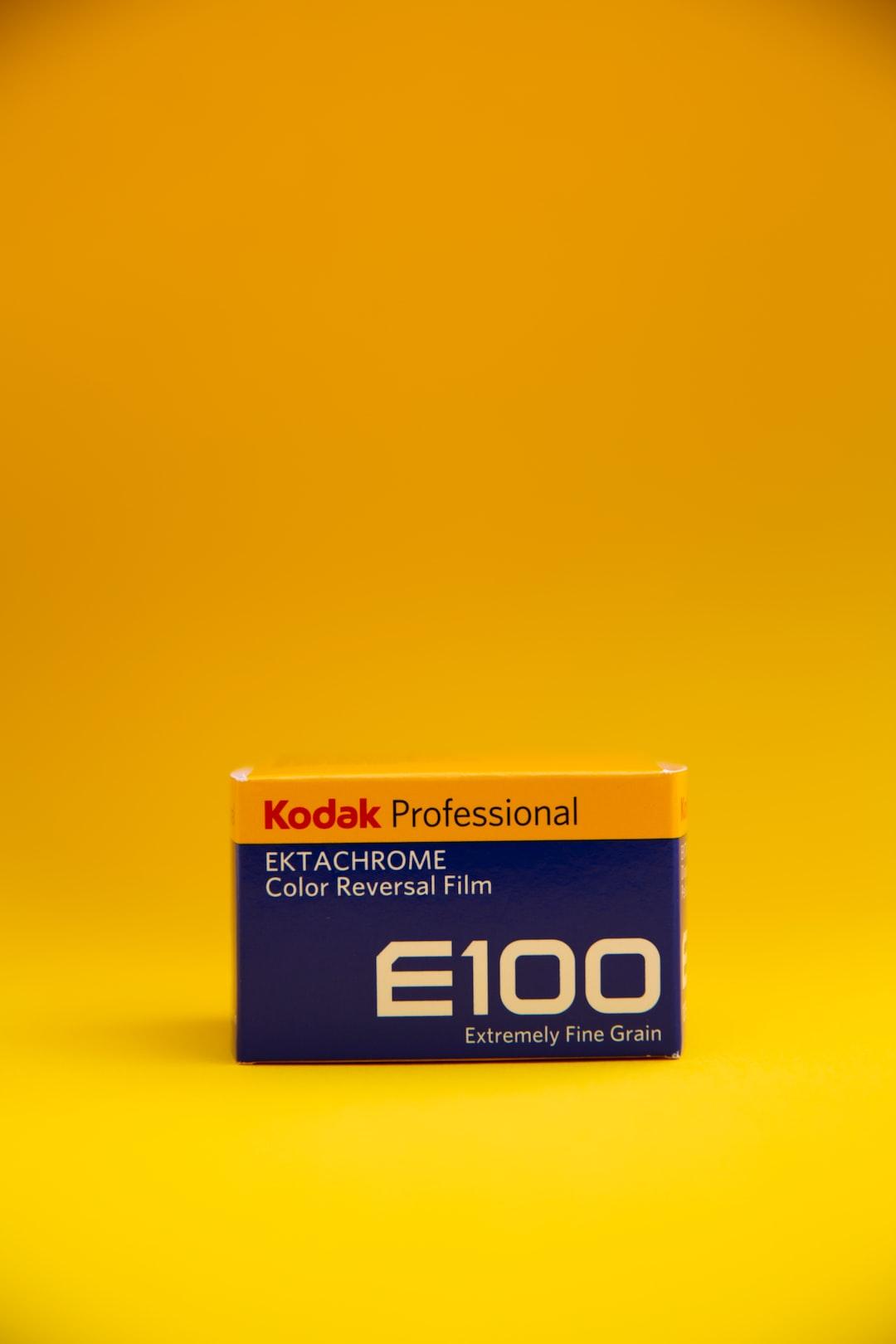 Kodak Professional EKTARCHROME E100 Analog Film Reel.