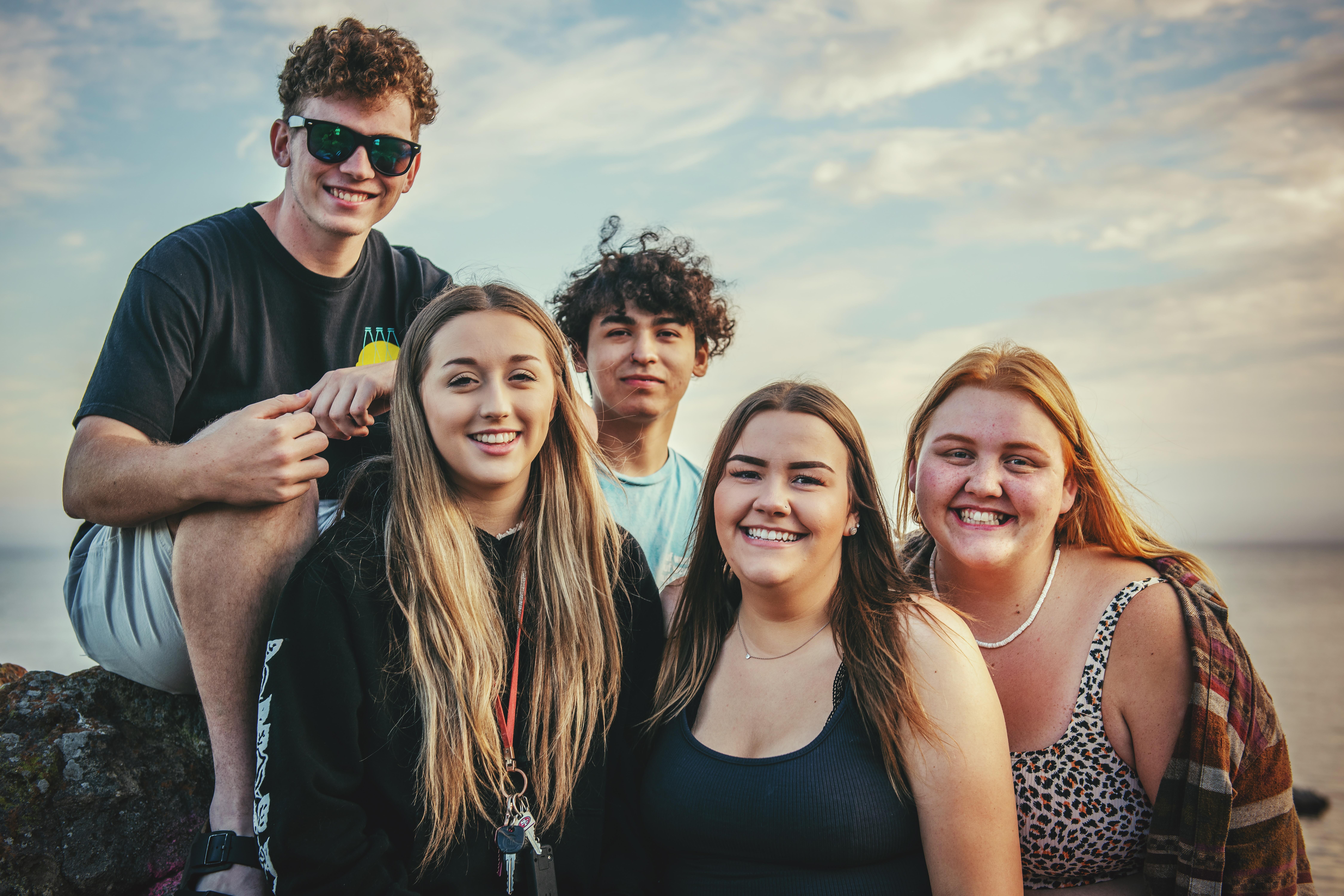 """Friends at the beach"""