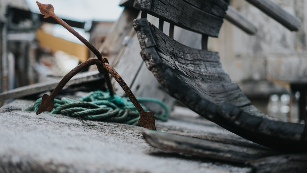 green rope on gray concrete surface