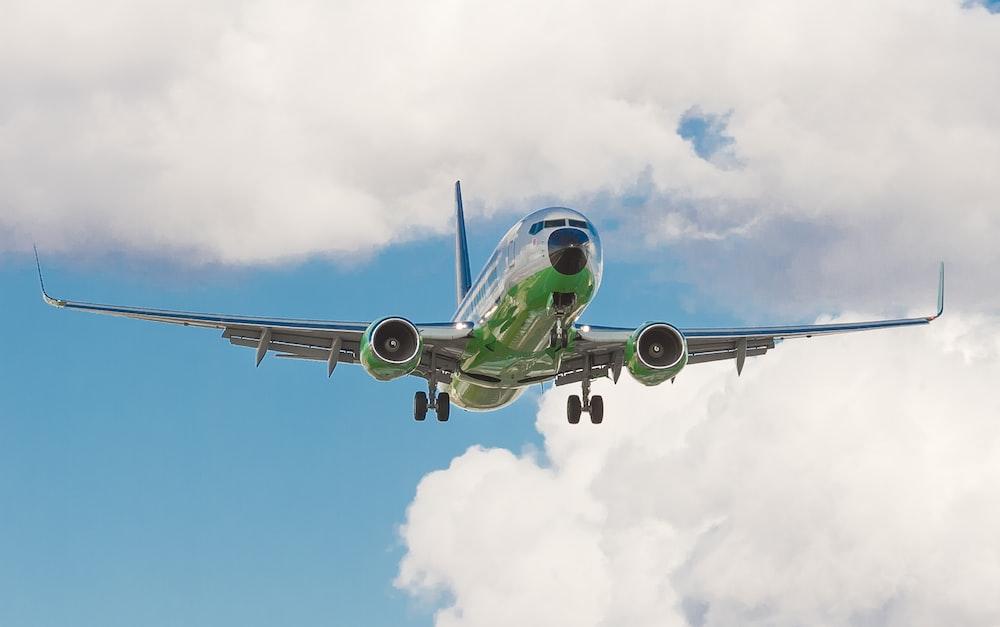 green airplane