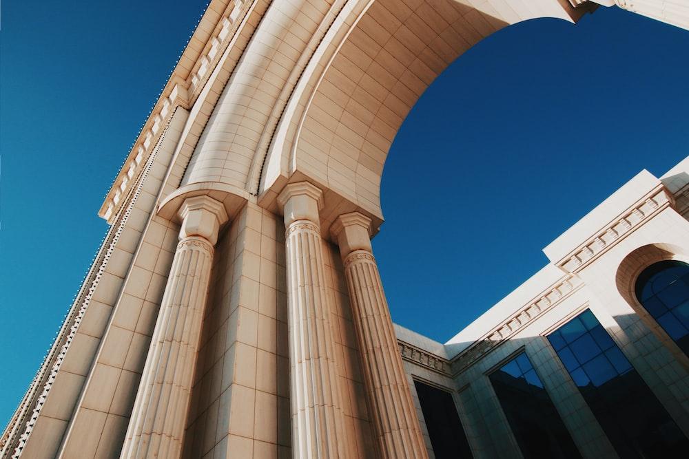 brown concrete arch gate