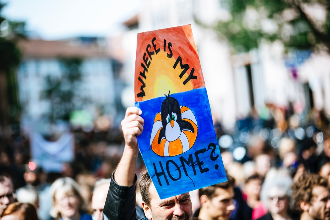 Global climate change strike - No Planet B - Protest Demonstration 09-20-2019