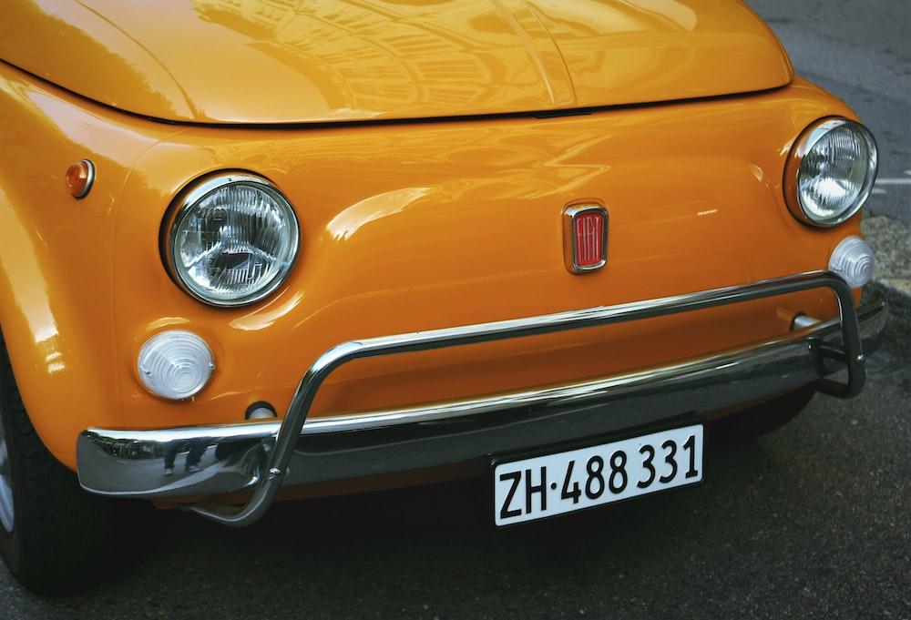 orange vehicle