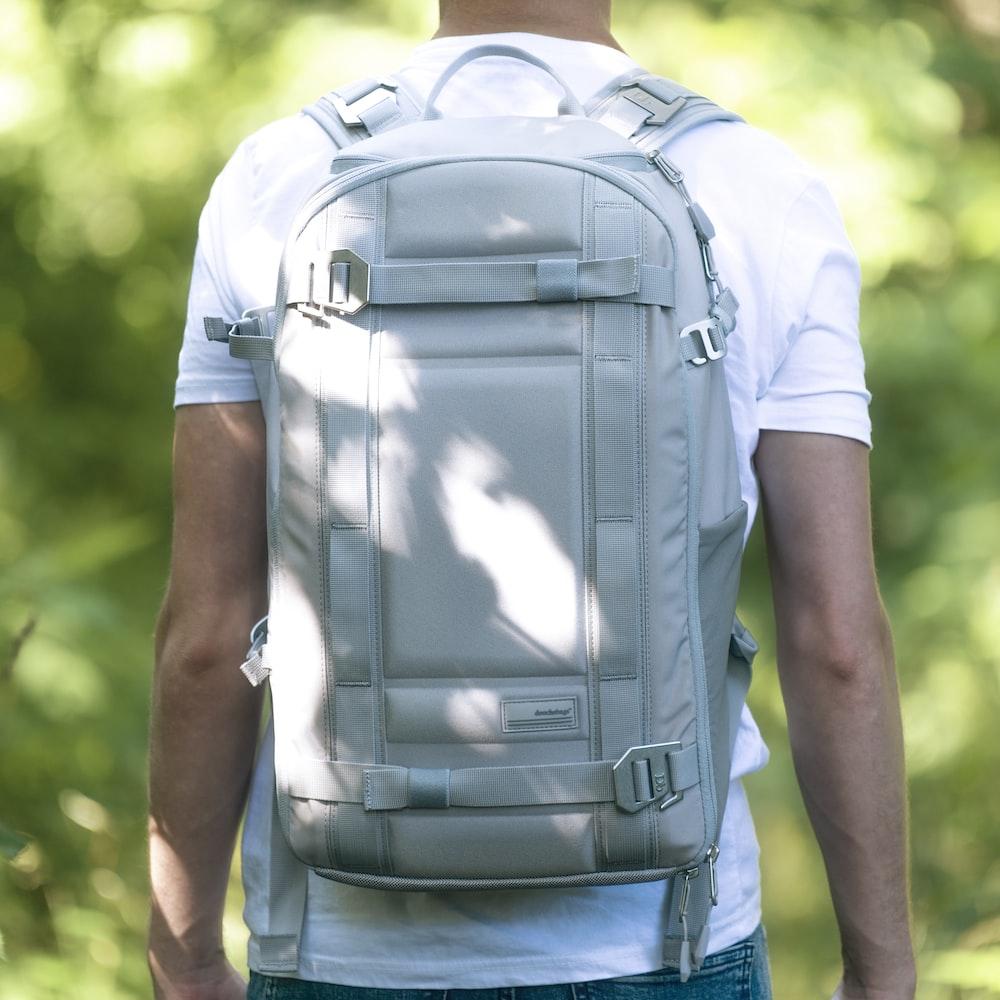 white bakcpack