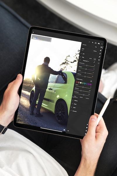 iPad Pro editing.