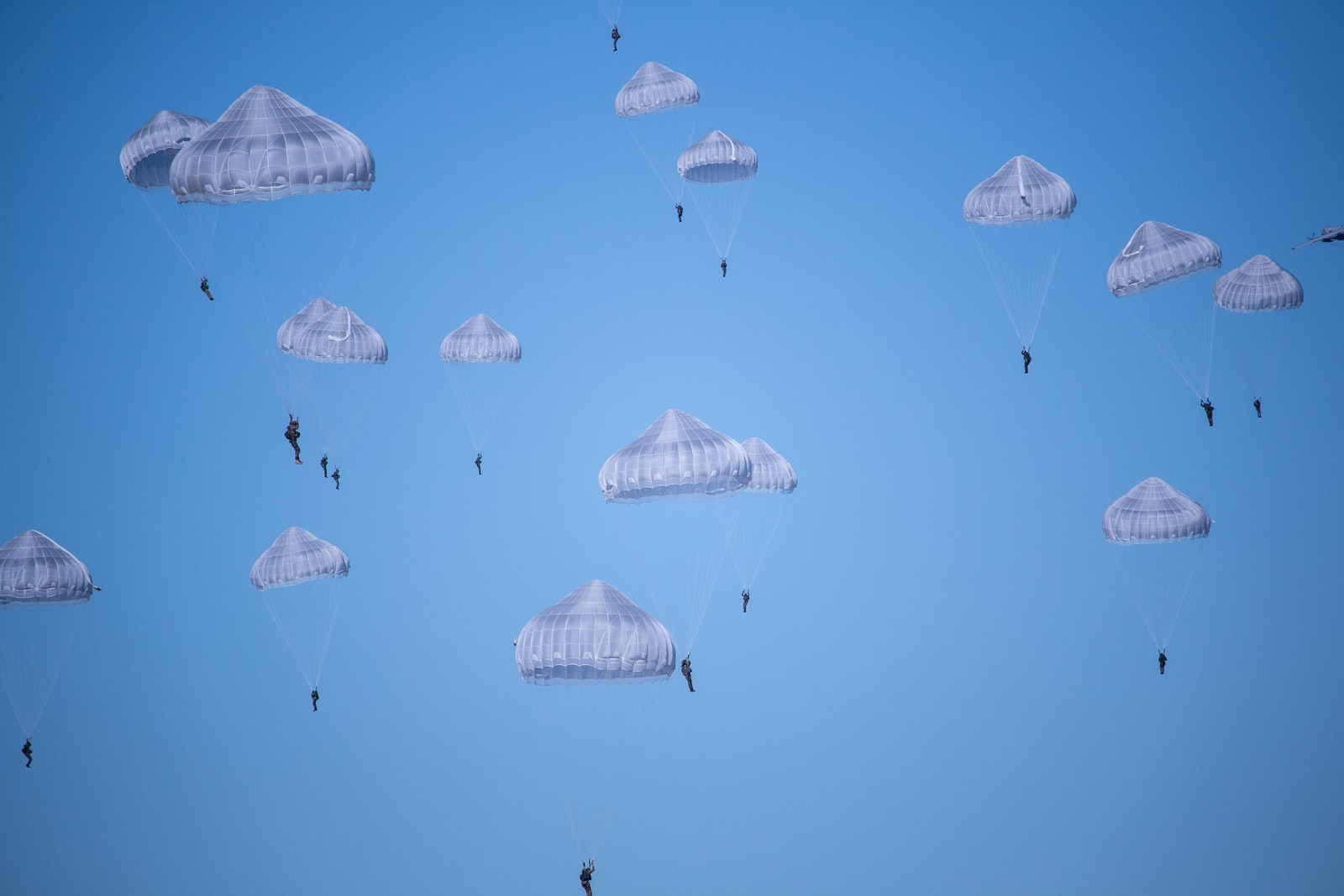 """Canon EOS 70D sample photo. """"White parachutes during daytime"""" photography"""