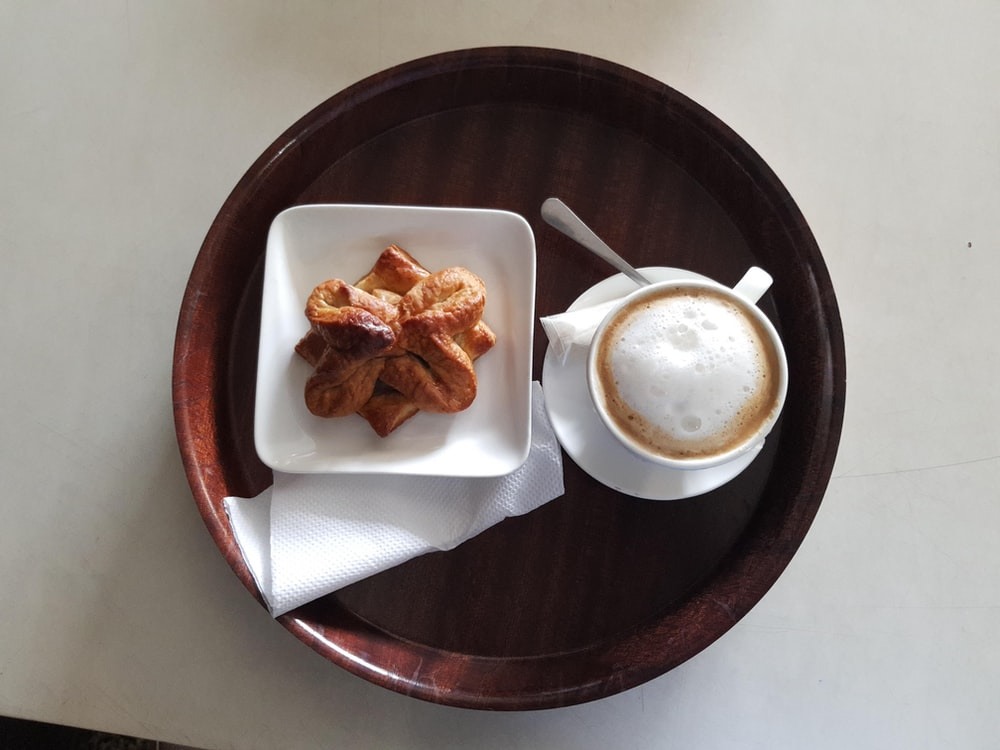 square white ceramic saucer
