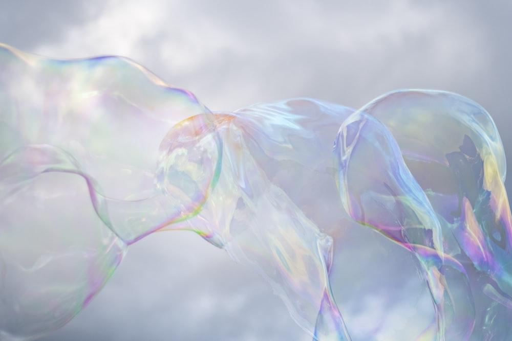 iridescent bubbles
