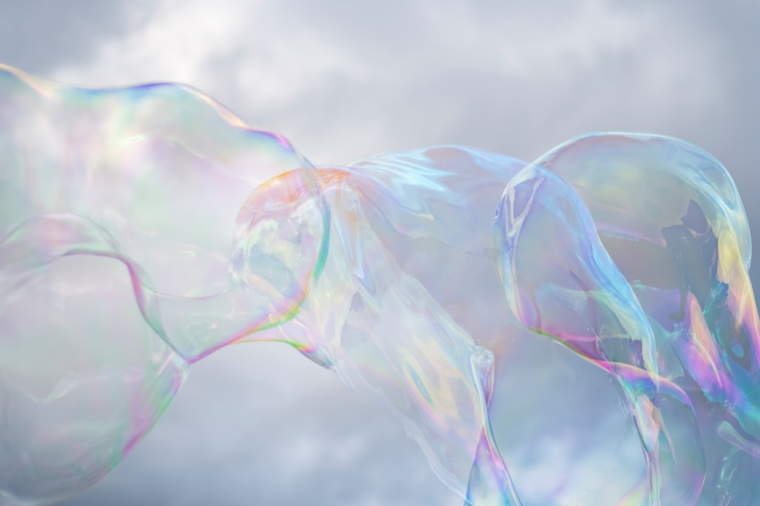 Bubbles from a bubble blower