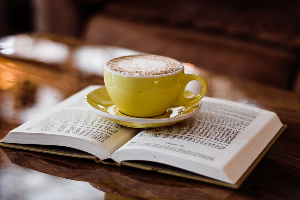 teacup on book