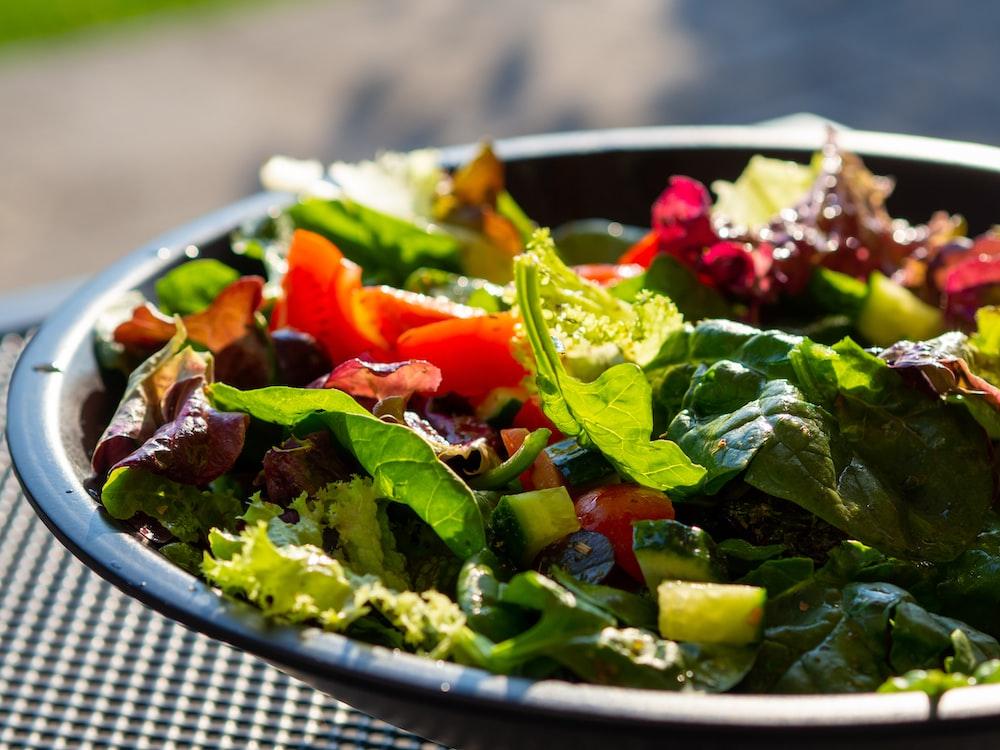 plate of vegetable salad