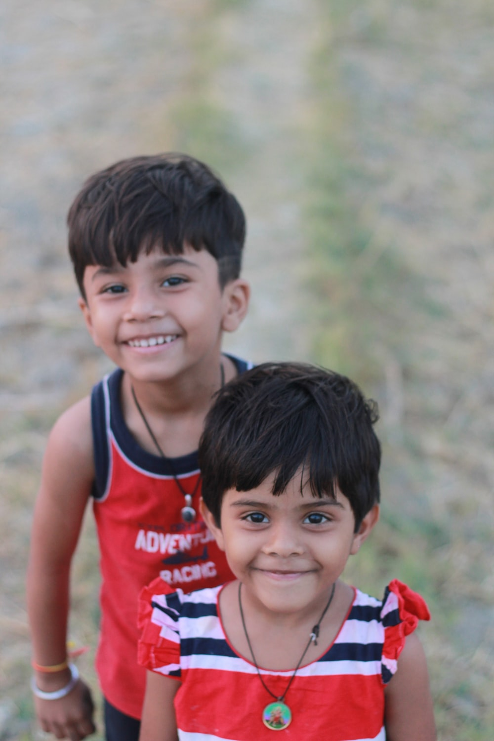two smiling children