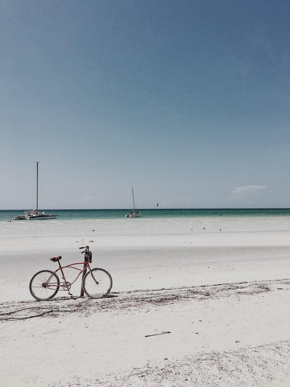 bike near shore