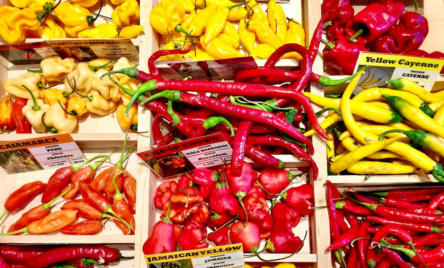Verschillende pepers
