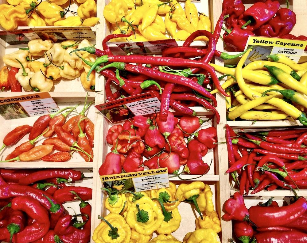 red and yellow chili
