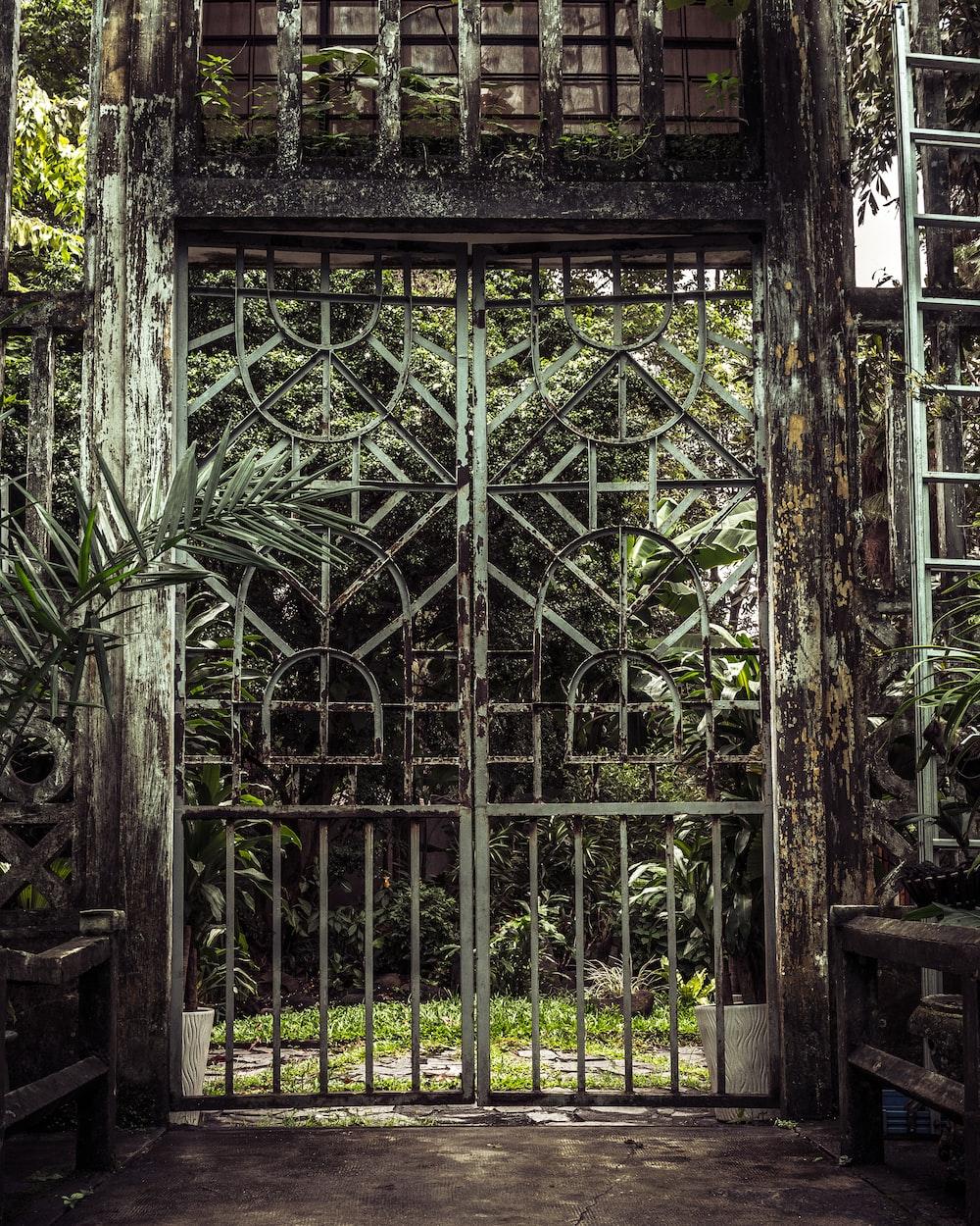 photo of gray steel door