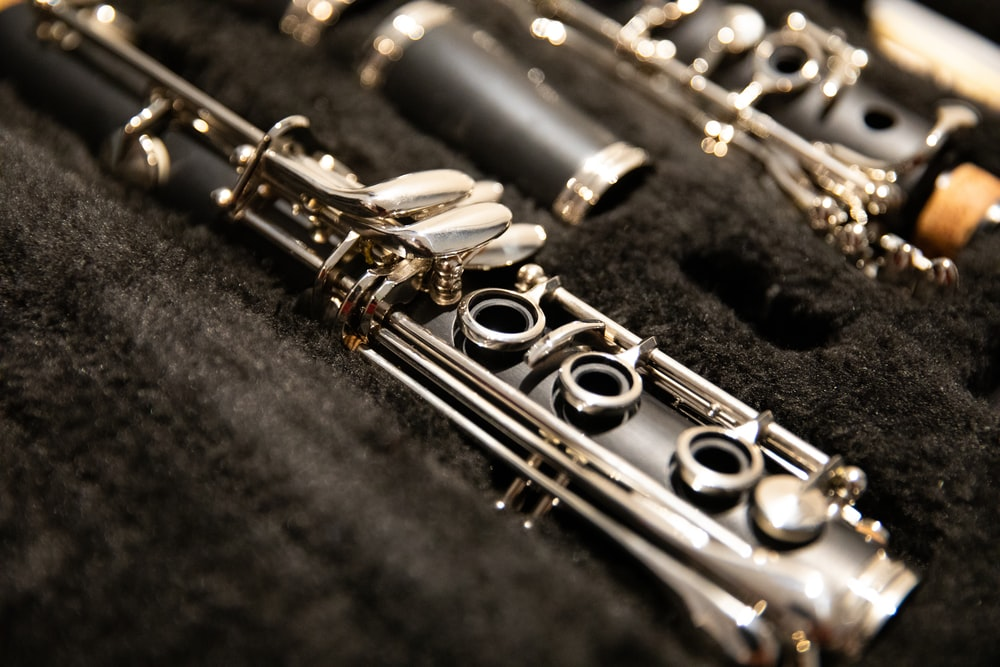 black clarinet with case
