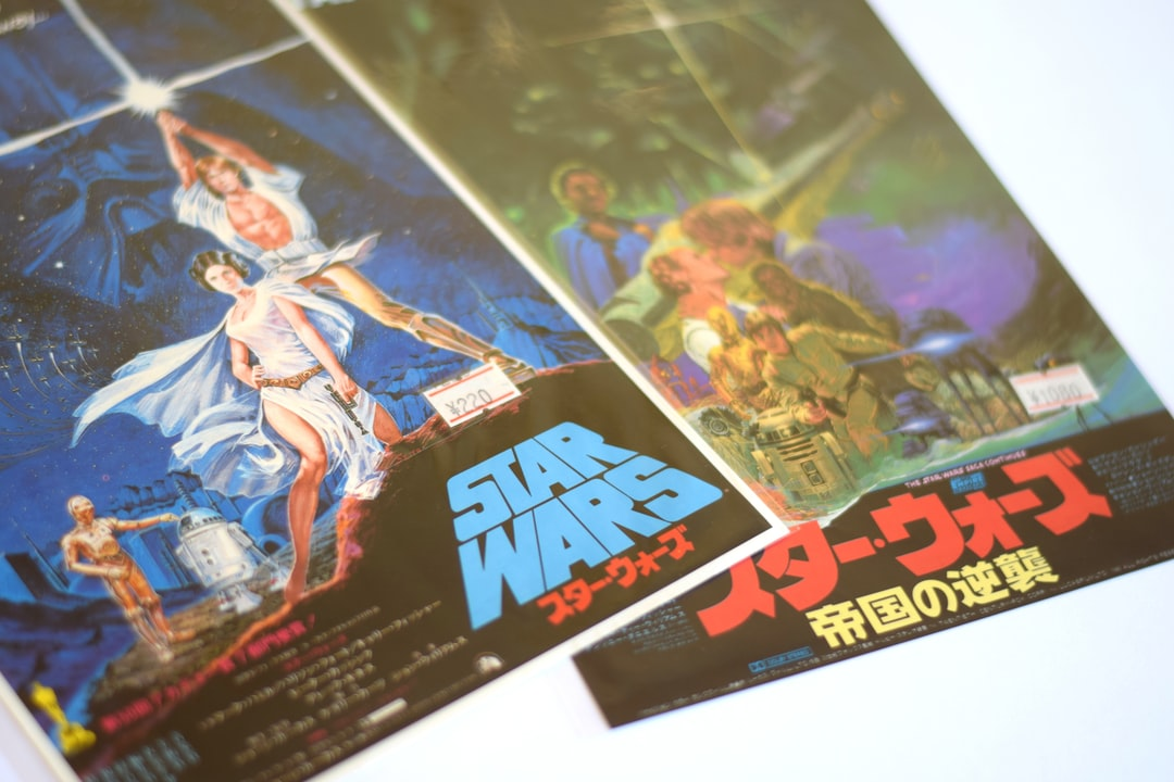A pair of small Japanese movie posters for Star Wars and The Empire Strikes Back. Found in a tiny film memorabilia shop buried deep in the labyrinthine Nakano Broadway shopping mall in Tokyo, Japan.