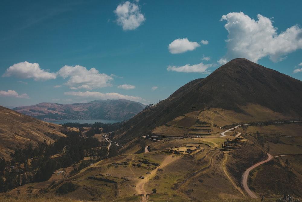 green field mountain