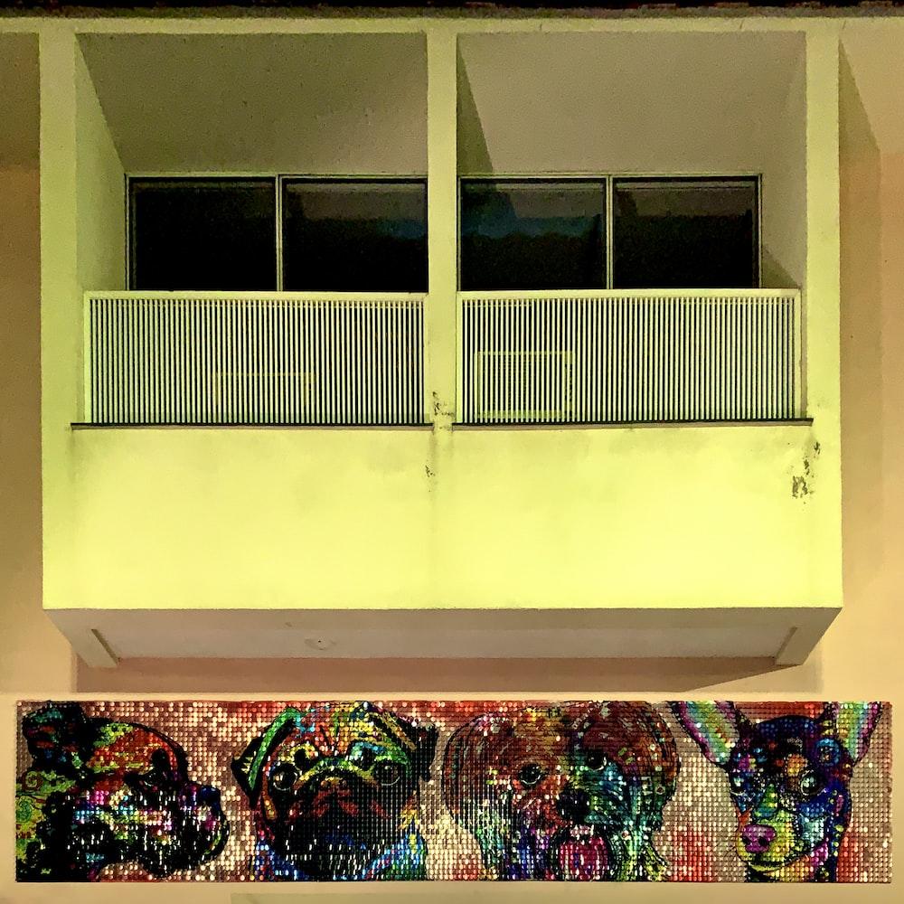 framed glass door and window