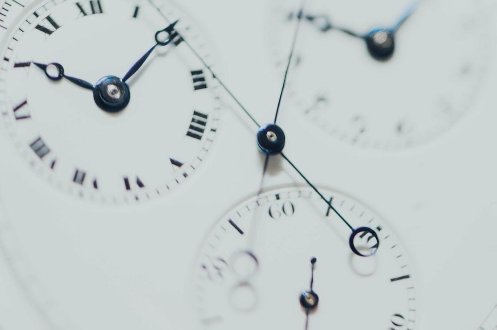 white chronograph watch