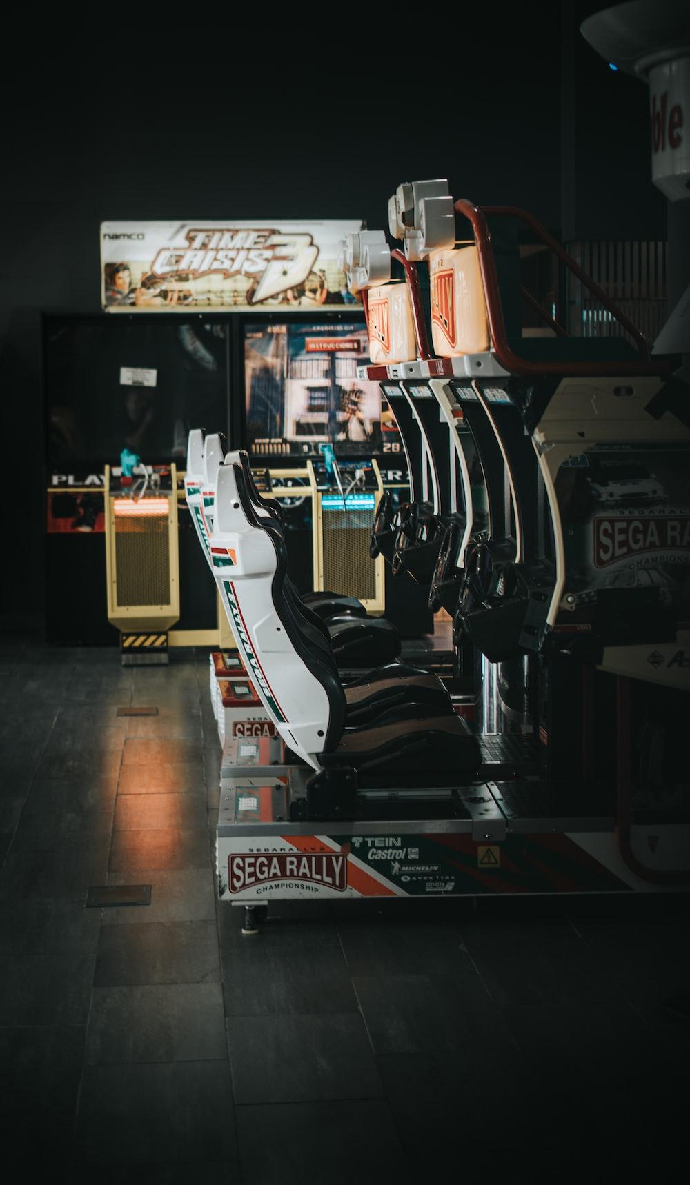 empty video game arcade