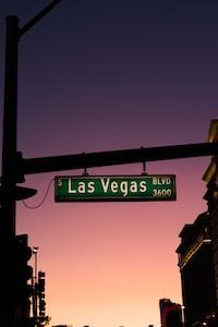Las Vegas Boulevard 3600 road sign