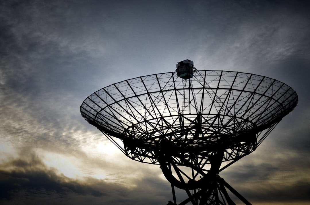 A radiotelescope dish in the east of the netherlands.