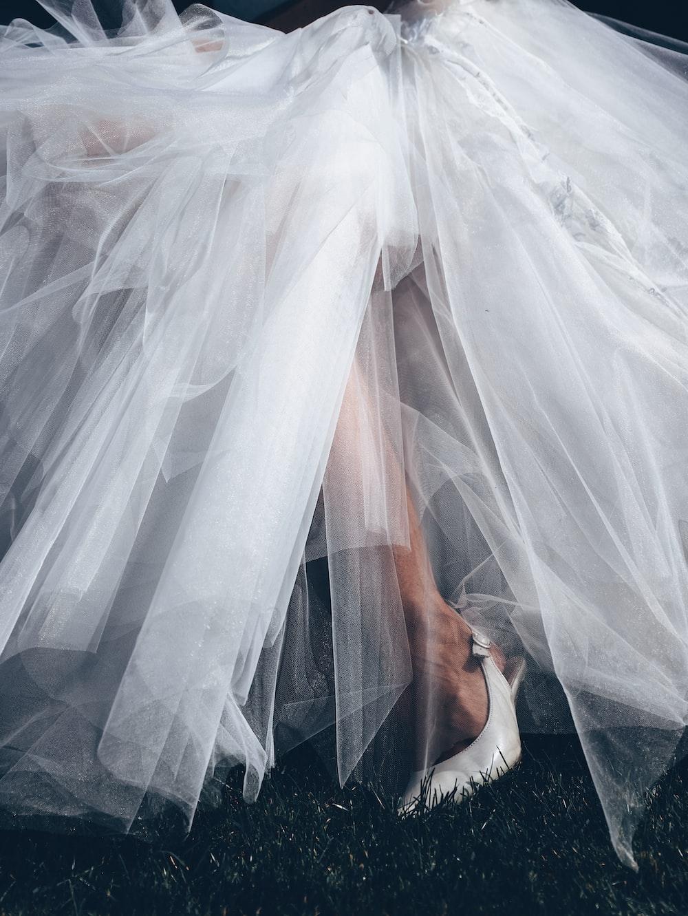 white sheer tutu skirt