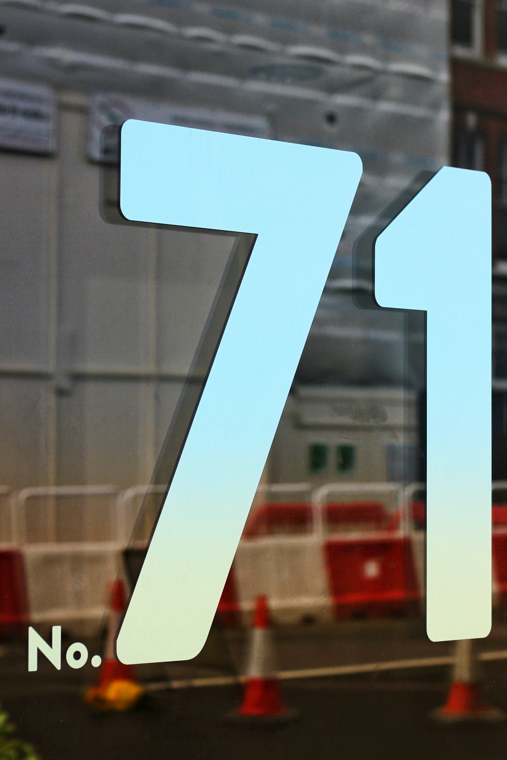 no. 71 etched glass wall