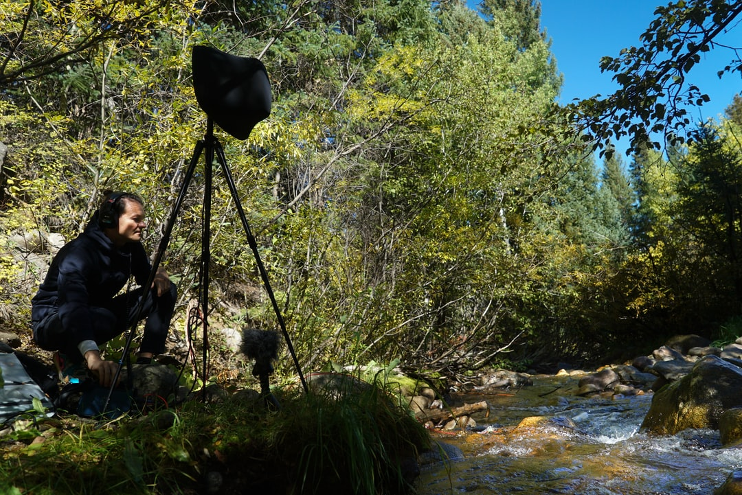 recording the sound of a beautiful river stream in Beaver Creek, Colorado!