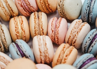 French macaroons with different colors