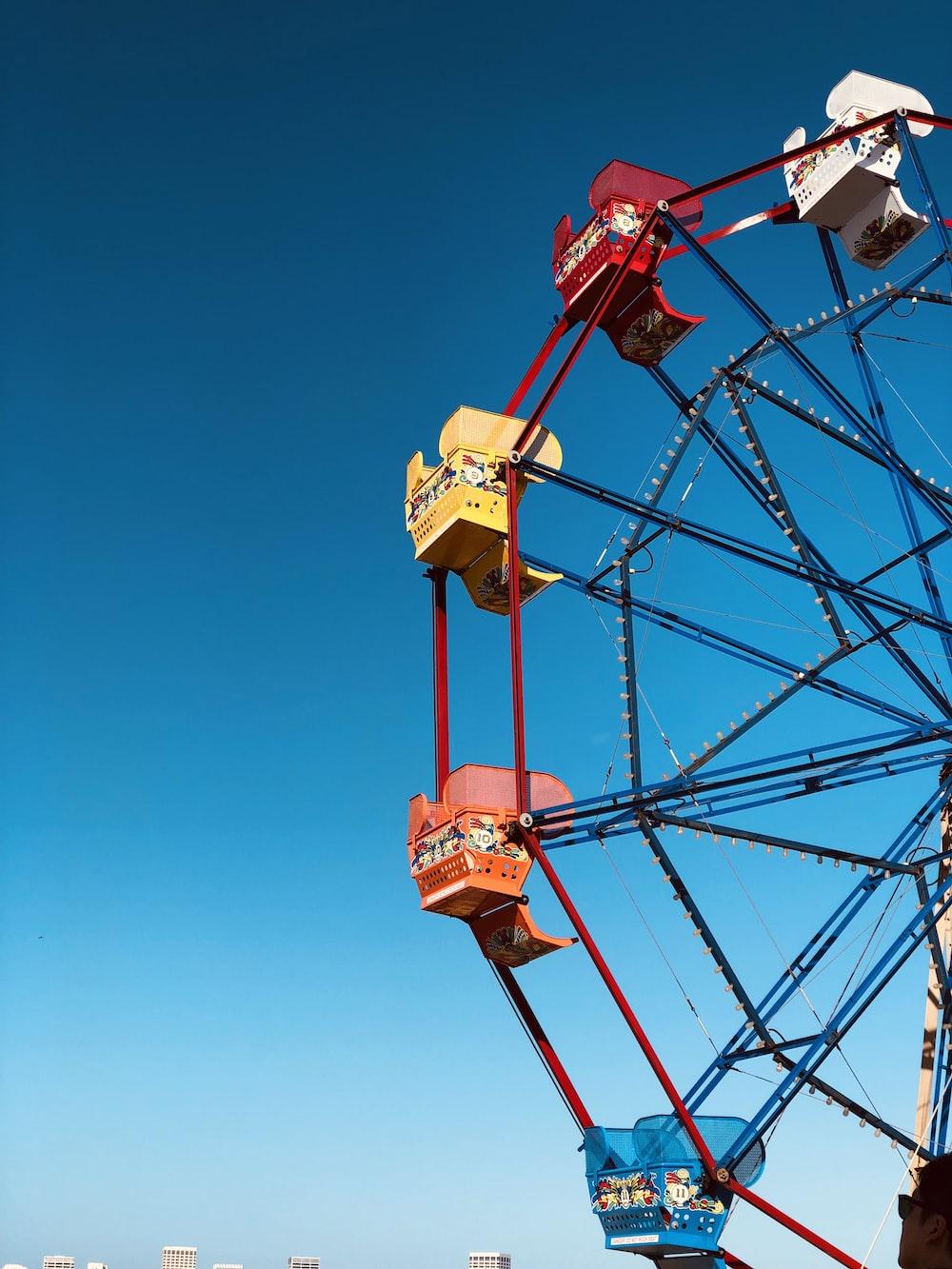 multicolored ferris wheel at daytime