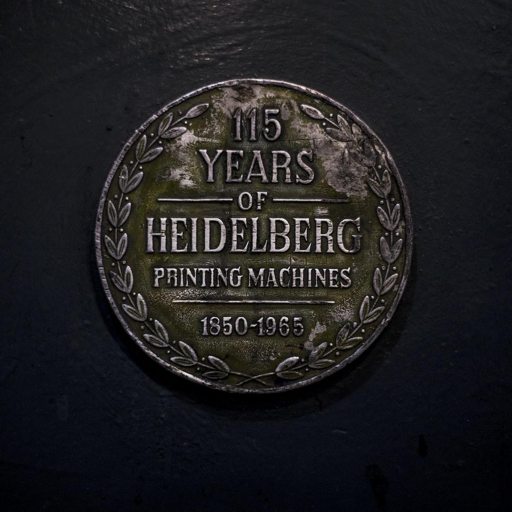 115 years of heidelberg coin