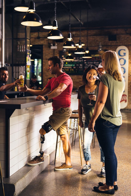 people inside bar