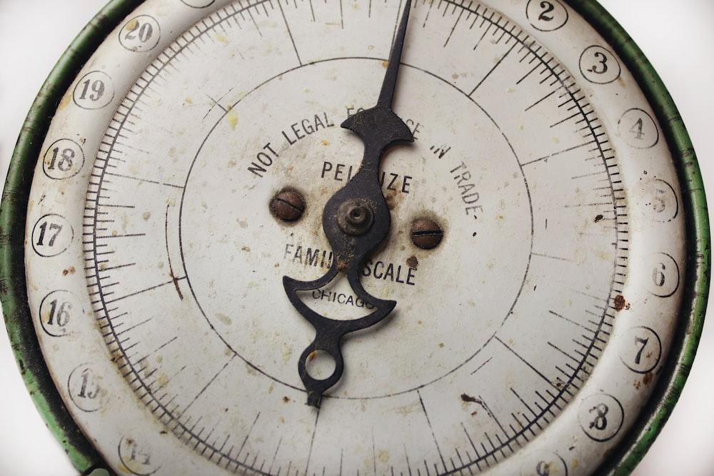 round gray gauge