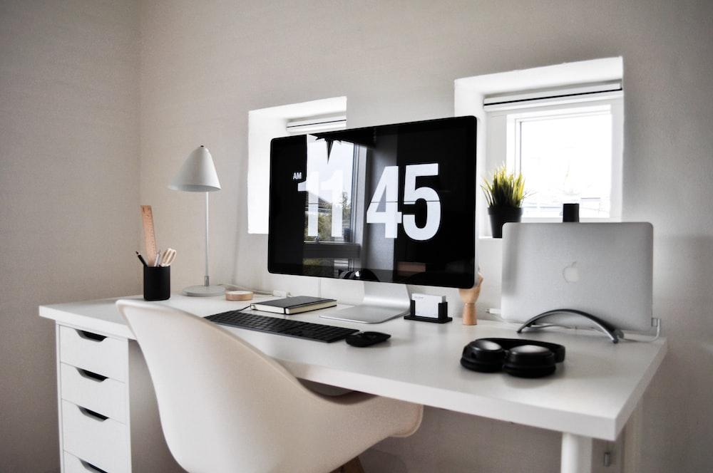 flat screen computer monitor inside room