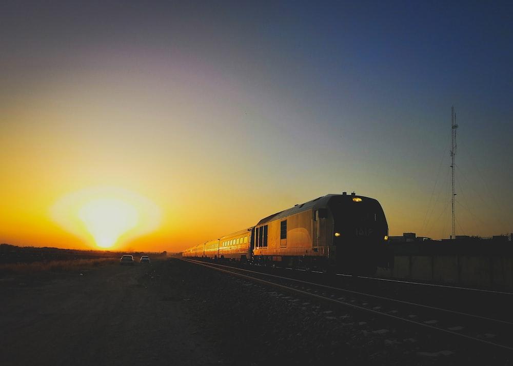 brown train during daytime photo