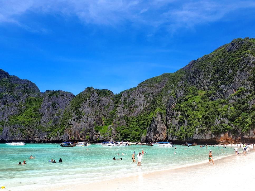 Maya Bay in summer